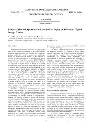Advanced Digital Design Pdf Project Oriented Approach To Low Power Topics In