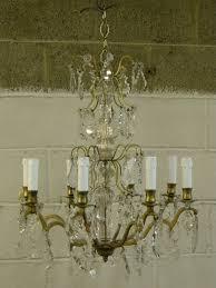 crystal chandelier before restoration crystal chandelier after restoration
