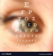 Blurry Eye Test Chart Eye Test Vision Chart Blurred Effect