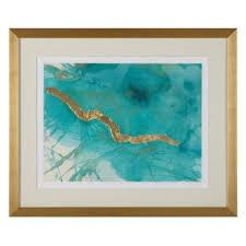 limited edition aqua moment 1 gold wall art