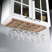 wooden hanging stemware rack preparing zoom