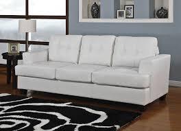 diamond white leather sofa bed