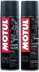 Motul C1 C2 Combo Chain Clean Lube Road Promo Pack Of 2 150 Ml Each Chain Oil 300 Ml