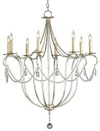 silver leaf crystal chandelier large