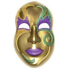 Mask Decorating Supplies Mardi Gras Jumbo 100D Face Mask Mask party Mardi gras and Masking 35