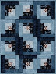 This easy to sew quilt kit has blue leafy branches on brown, navy ... & This easy to sew quilt kit has blue leafy branches on brown, navy blender,  blue blenders, vine leaves on light blue and a brown and cream check. Wi… Adamdwight.com