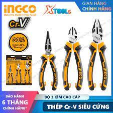 Bộ 3 kìm đa năng cao cấp cách điện INGCO HKHLPS2831 Kềm cắt 7