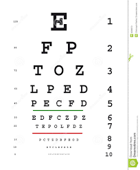 Eye Test Chart Stock Illustration Illustration Of Read