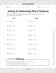 Awesome Collection Of Adding And Subtracting Mixed Fractions With ...
