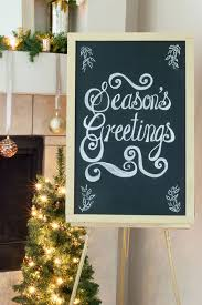 Christmas Decorating Ideas: Holiday Chalkboard Messages -- boutique la  bohme
