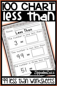 Three Hundred Chart Worksheets For 100 Hundred Chart One Two Three Less Than