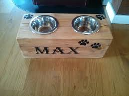 pallet projects furniture plans dog bowl stand