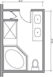 Creativity Master Bathroom Floor Plans With Walk In Shower 8 X 12 Foot Innovation Design