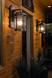 rustic exterior lights outdoor lighting porch with aspen light within