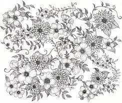 イラストvo2線画 花柄のイラスト森田鞄さんとのコラボレーション用