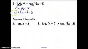7 4 solving logarithmic equations and inequalities