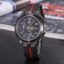 Men S Ferrari Top Brand Luxury Wrist Watch Euro Sport Car