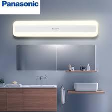 Modern Bathroom Lighting Us 74 6 28 Off Panasonic Modern Bathroom Light Led Front Mirror Light Makeup Wall Lamp Vanity Lighting Fixtures Waterproof Mirror Lamp In Vanity