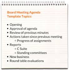 how to make a agenda board meeting agenda templates
