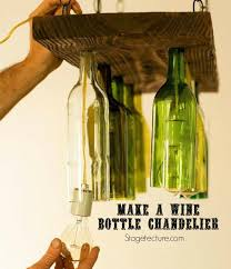 how to make a bottle chandelier