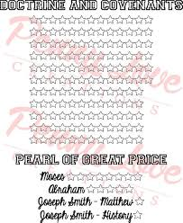 Doctrine Covenants Pearl Of Great Price Reading Chart