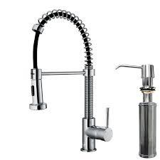 Kitchen Pull Down Faucet Vigo Edison Single Handle Pull Down Spray Kitchen Faucet With Soap