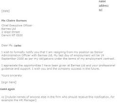 Examples Of Resign Letters Template Of Letter Of Resignation Resignation Letter Examples