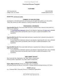 Sample Functional Resume Format Template Sample Of A Functional Resume Template Format Templates 11