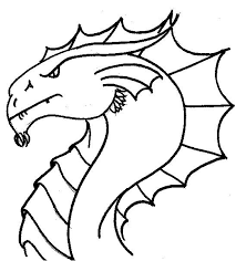 Small Picture Easy to Color coloring pages draw a simple dragon coloring pages