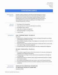 Sample Resume Of Chef Luxury Famous Culinary Arts Skills Resume
