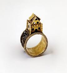 the stieglitz collectionwedding ring surmounted by a symbolic house italy 17th century ancient jewelry rings jewelry wedding rings
