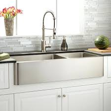 stainless farm sink offset double bowl steel farmhouse reviews stainless farm sink optimum offset double
