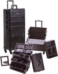 professional makeup case with lightirror uk dfemale rolling