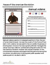 Small Picture Samuel Adams Trading Card Worksheet Educationcom