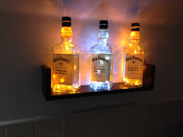 how to build a jack daniels bottle light display also works with rum vodka gin bottles you