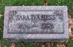 Sara Iva Pierce Hess (1896-1963) - Find A Grave Memorial