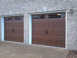 9x7 garage doorOak Summit 9x7  Recessed panel with stockton glass insert in