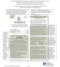 How To Read A Disinfectant Product Label