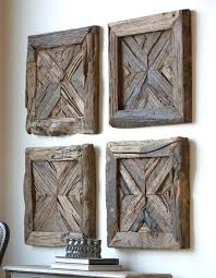 wood wall art decor diy ideas reclaimed on fascinating rustic best 3 piece and pallet rec