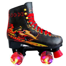 Liku Quad Roller Skates For Girl And Women With All Wheel Light Up Indoor Outdoor Lace Up Fun Illuminating Roller Skate For Kid