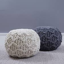 Knitted Pouf Pattern New Decoration
