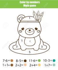 Coloring the numbers is one fun way to do it. Children Educational Game Mathematics Actvity Color By Numbers Royalty Free Cliparts Vectors And Stock Illustration Image 98025527