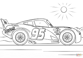 Small Picture Lightning McQueen from Cars 3 coloring page Free Printable