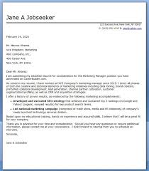 Communication Cover Letter Marketing Communications Manager Cover Letter Sample Creative