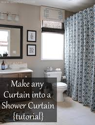 decoration exciting bathroom design ideas with blue pattern high long shower curtain
