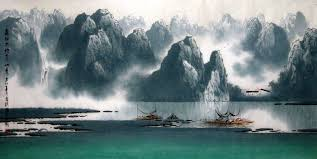 chinese landscapes painting as decorative accents gnomefrenzy com of trends home ideas