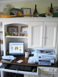 adding a hutch above your desk adds more storage space add home office