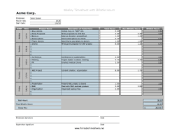 Billable Hours Timesheet Weekly Projects Billable Hours Printable Time Sheet