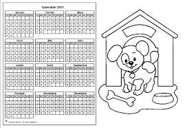 2017 Colorier Annuel Format Paysage Pour Enfants