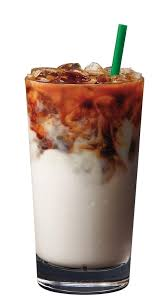 iced almond milk latte macchiato 1